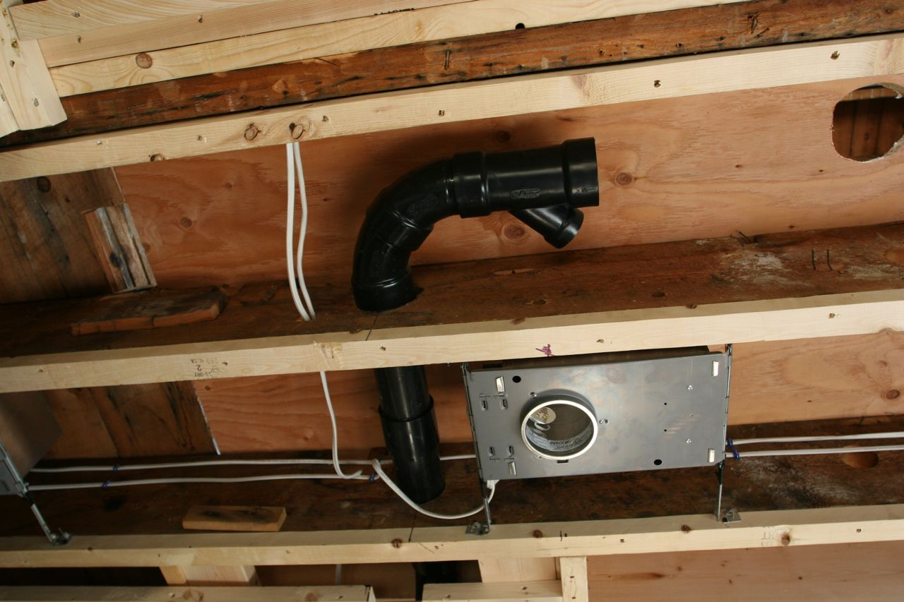 Look at that! Plumbing within the ceiling joists! Amazing what can be achieved in 90 years in technology.