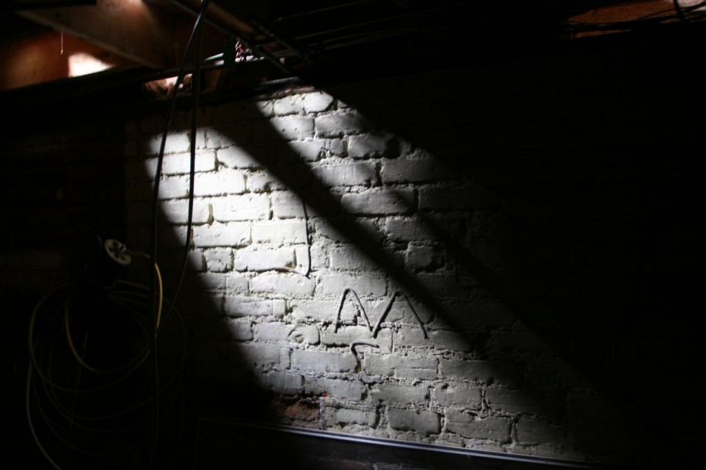 This is in the addition basement - aka: the secret basement. That's daylight streaming down from the kitchen above.