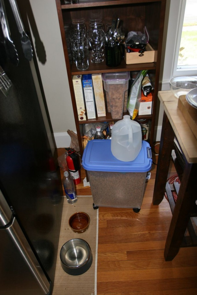 This is the rest of the kitchen, including Bec's tiny area. It's hard on all of us, but we're making it work.