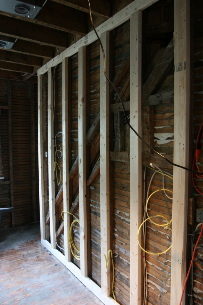 New framing and more electrical.