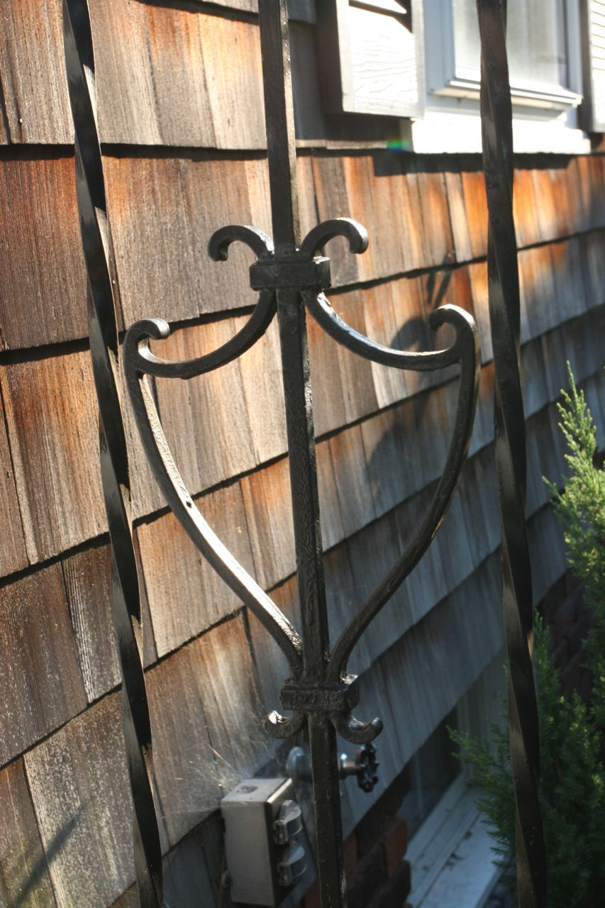 Our railings, to give you a sense of what we're up against in terms of finding new outside lights.