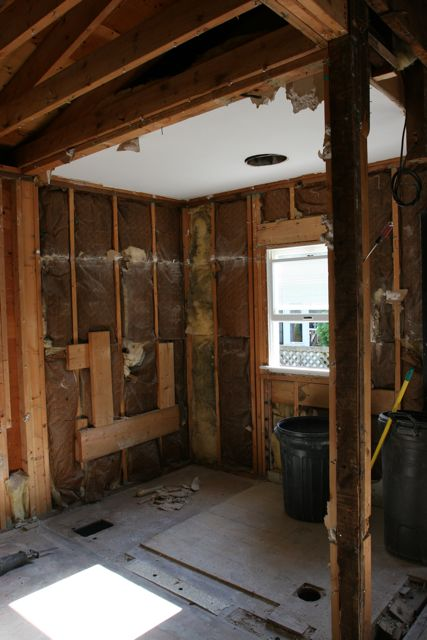 This USED to be the bathroom on the main level. IN the kitchen. I didn't shed one tear for this room.  Not one.