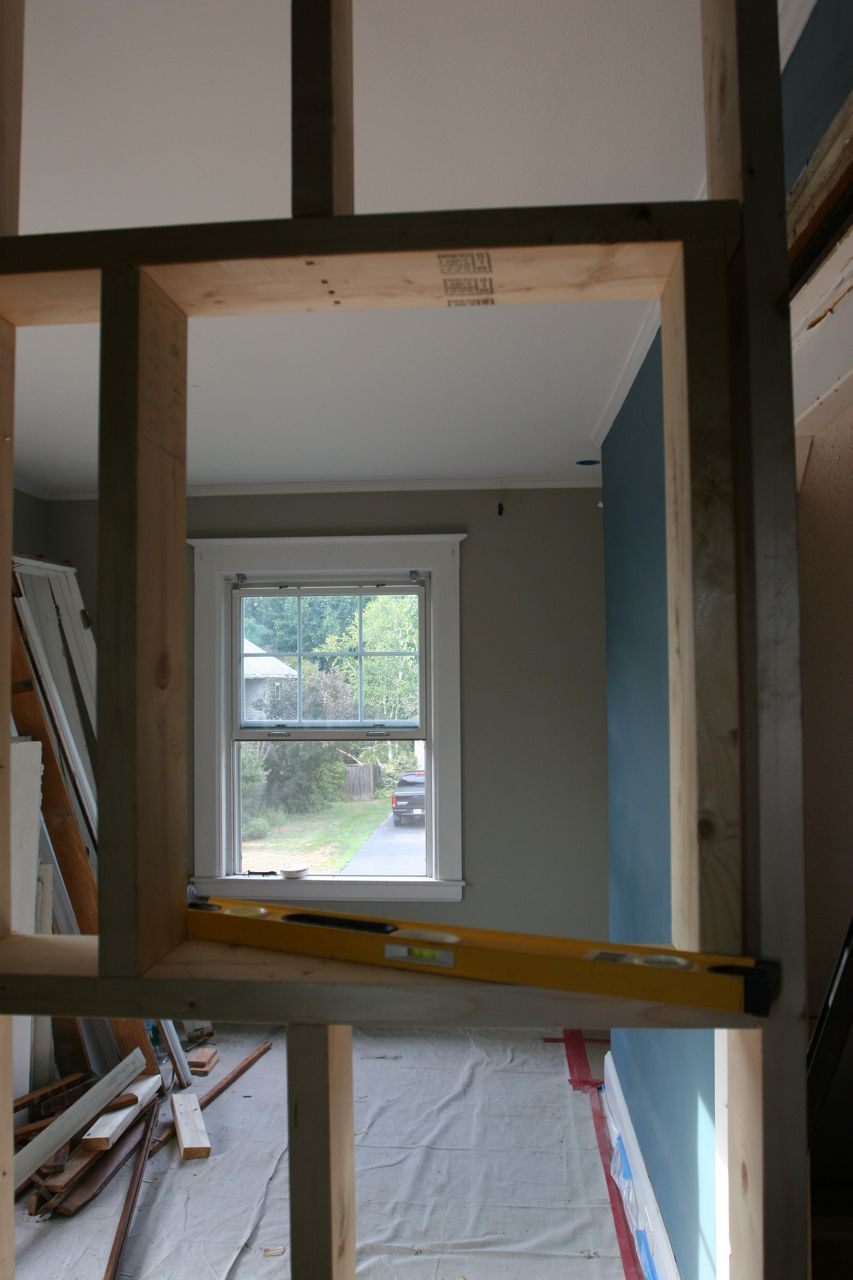 Framing for the medicine cabinet. Who knew it would be such a production?