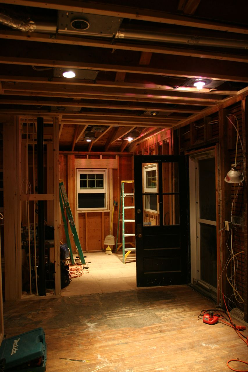 """LIGHTS! This is at night, partially """"energized"""" so we could get a sense of the placement as a whole."""