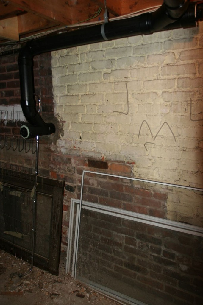 I think I discovered that there was once a staircase to the basement from the kitchen.