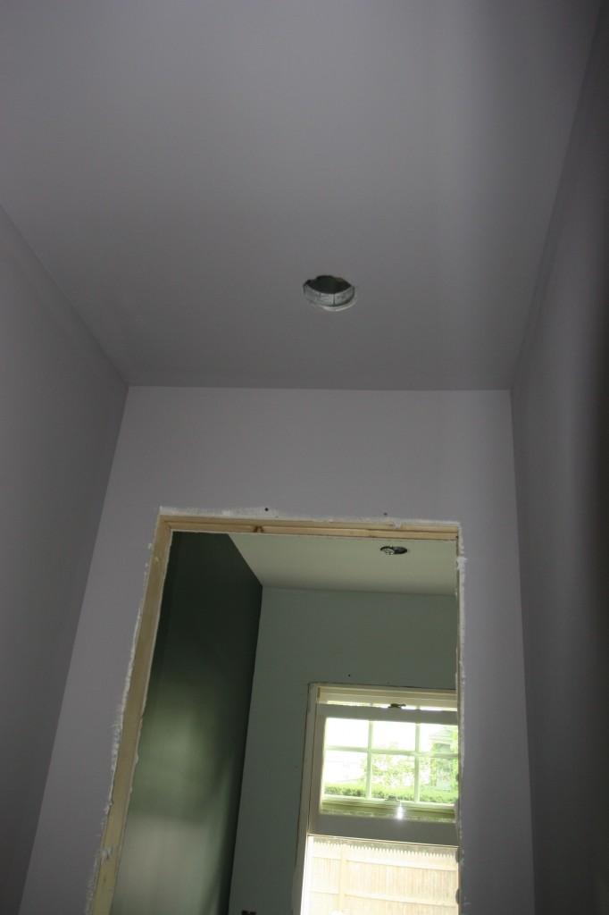 Kitchen hall to powder room.