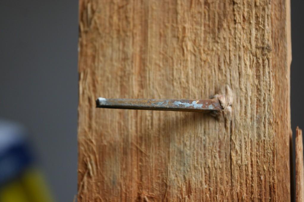 Square nail.