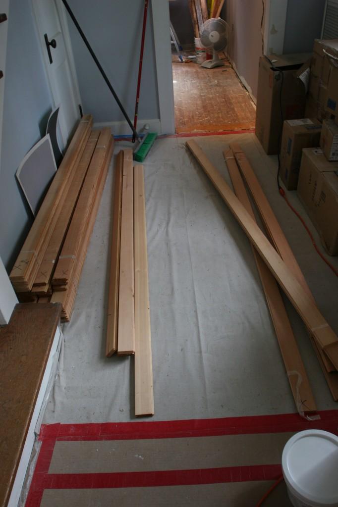Dwindling pile of wood.