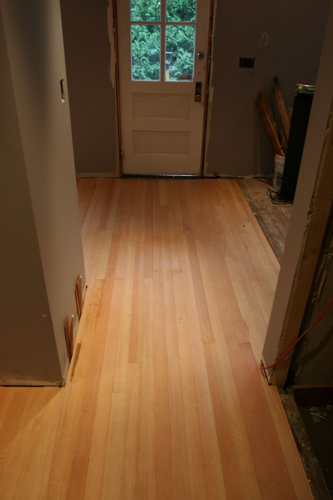 Tiny hallway.