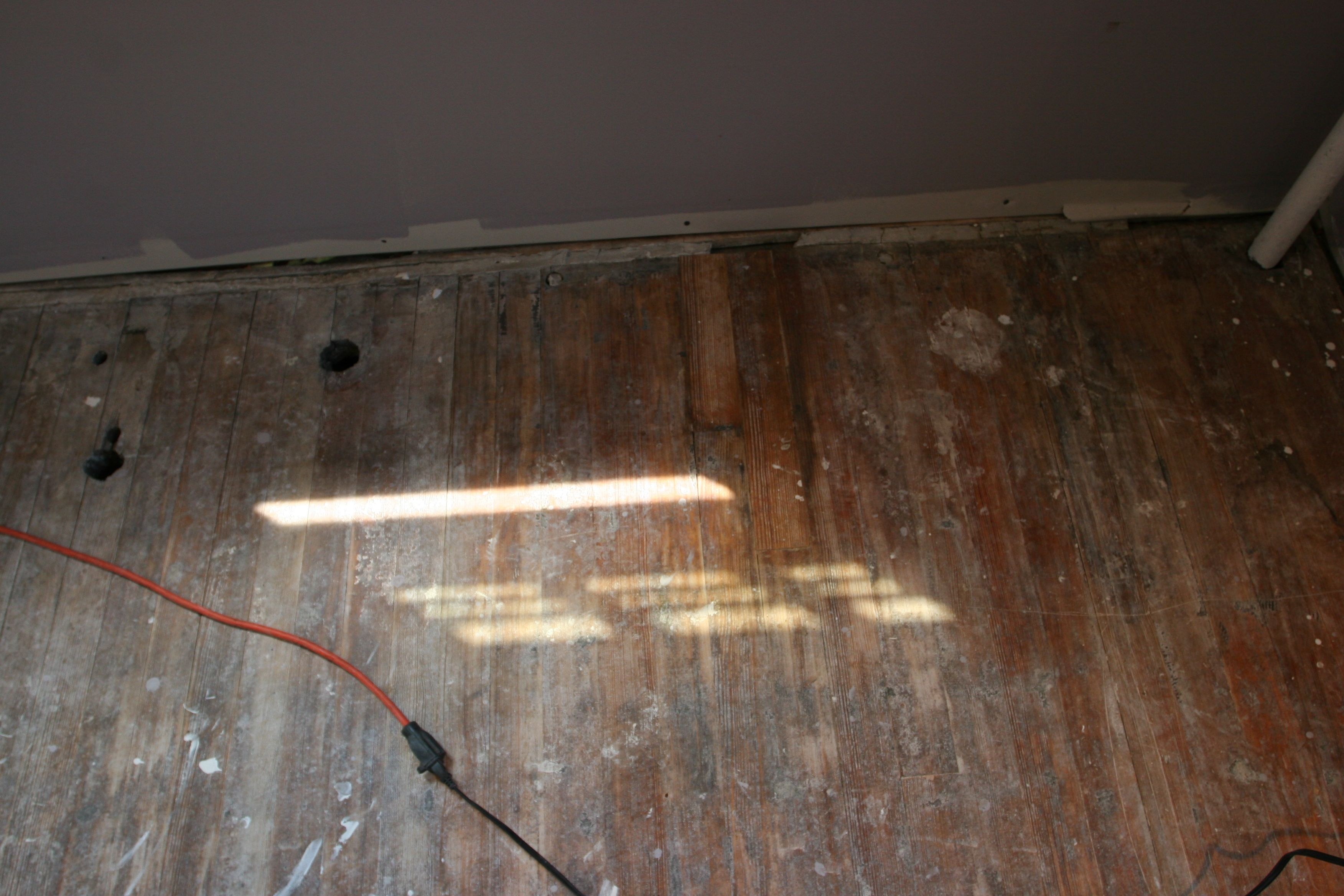 Patched up some holes that would show in our bar area.
