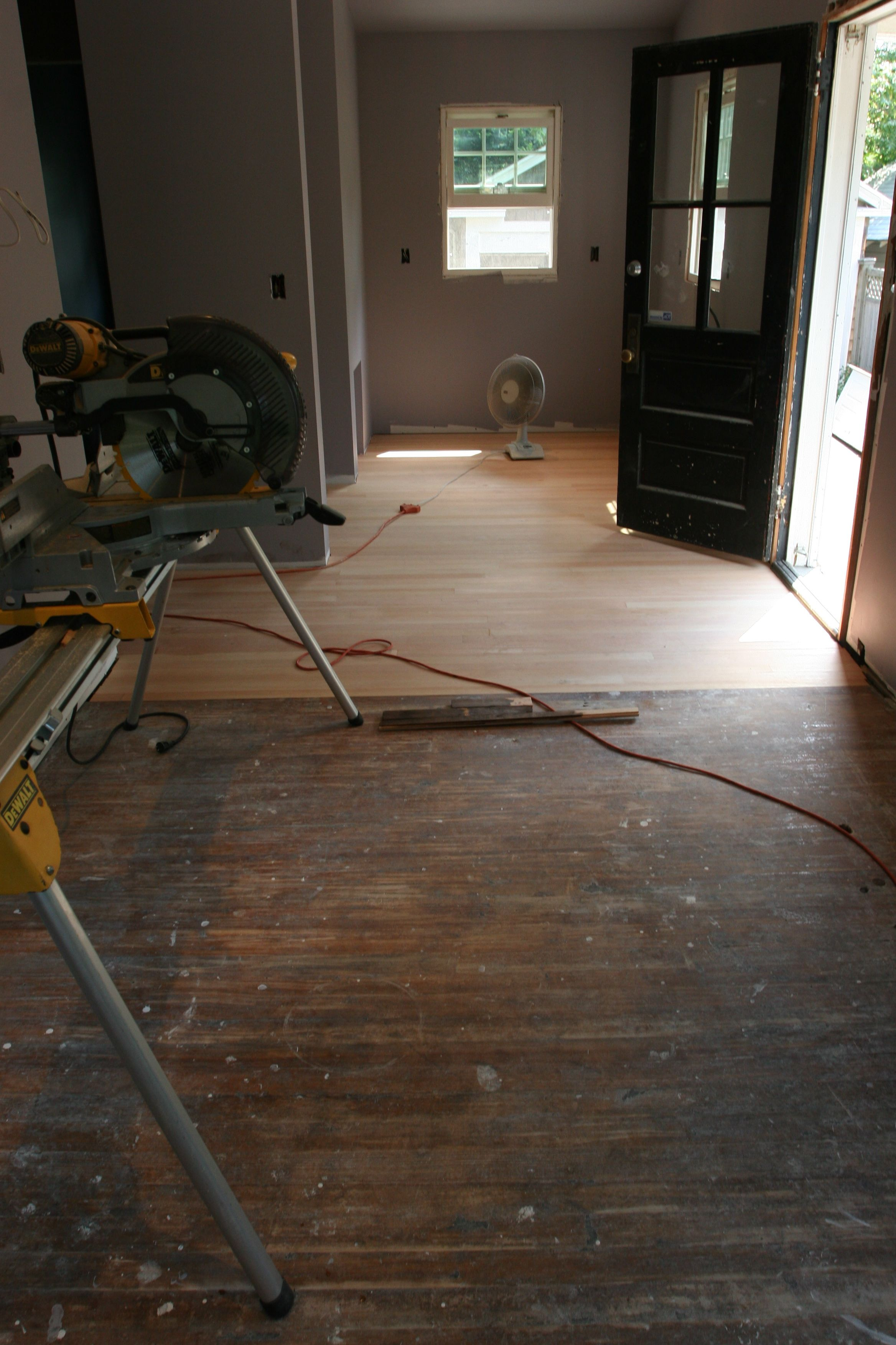 One last look at the old floor, pre-sand.