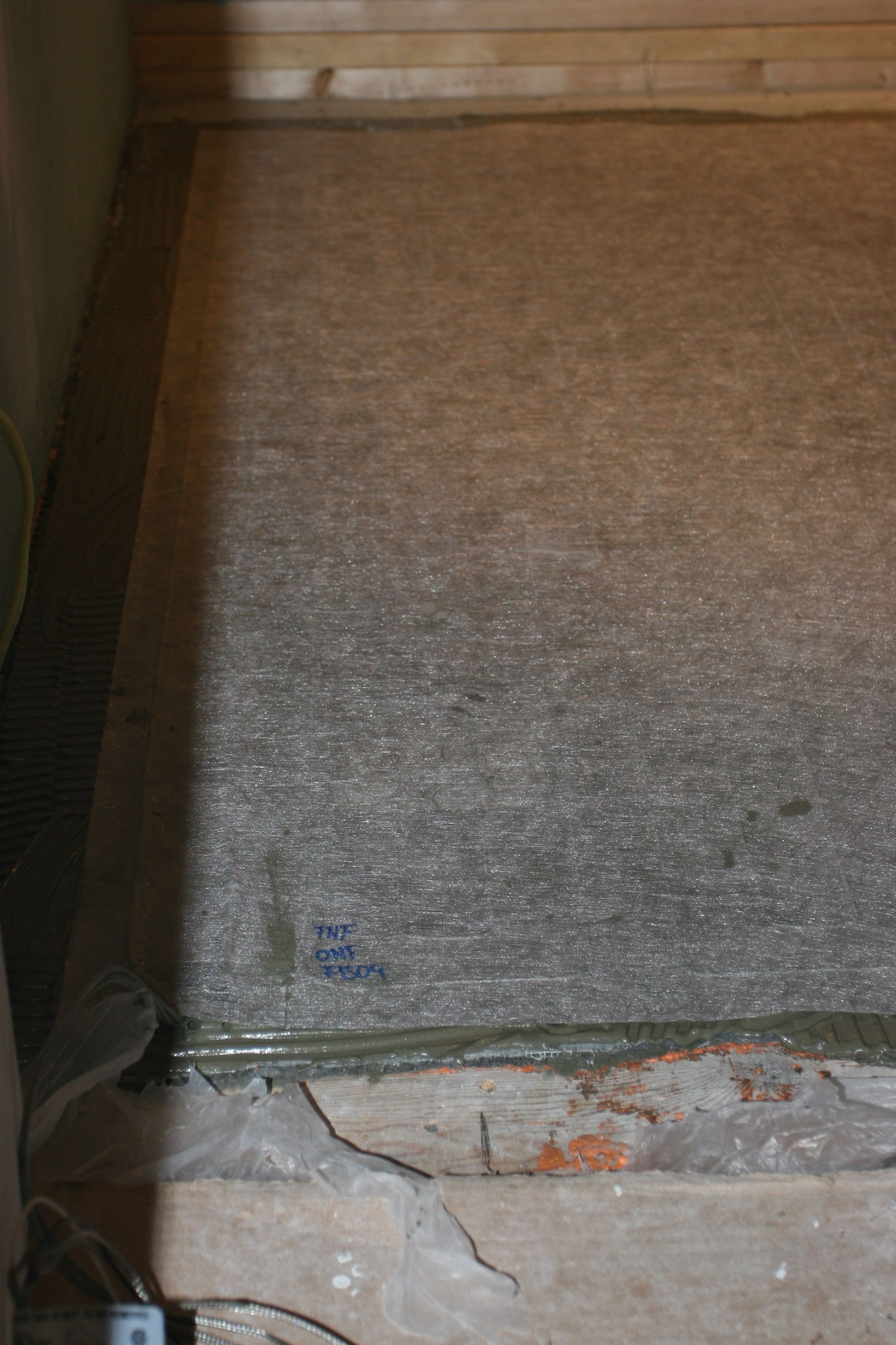 Heating pad for the master bath. This feature will also be in the new powder room.