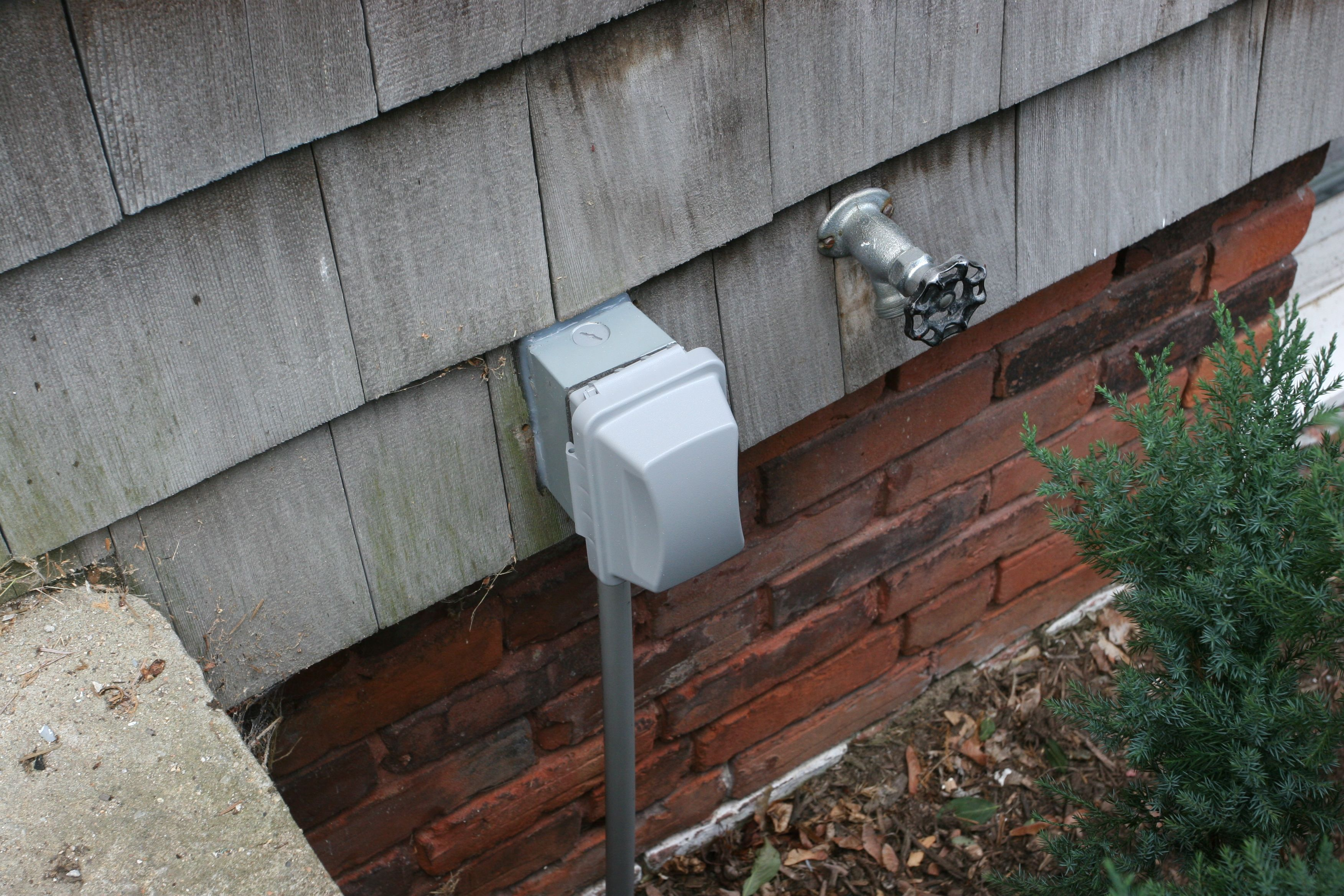 Safe, weather-safe outlet for the front of the house.