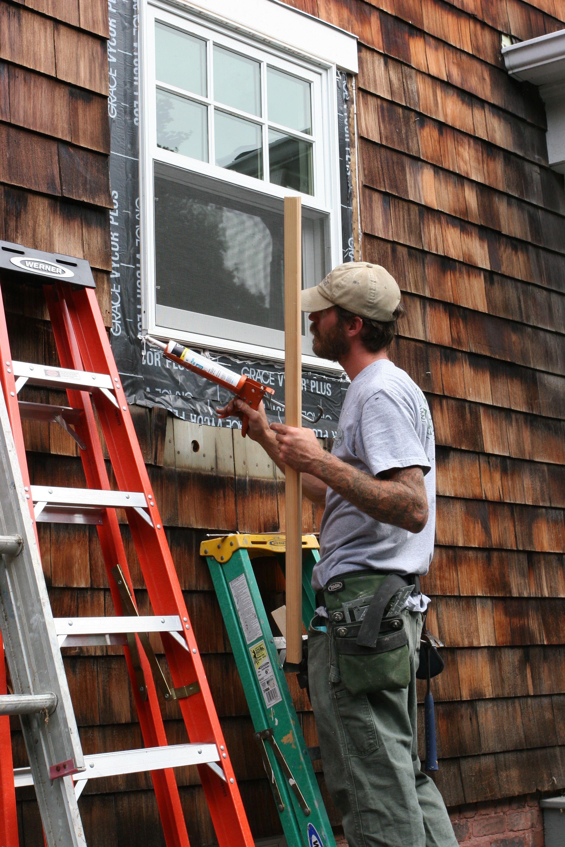 Anatomy of a window trim install: caulk.