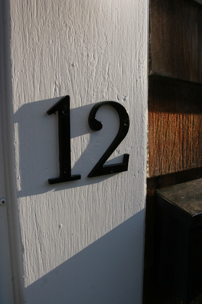 We even re-sprayed our house numbers. Shiny, crisp black! Love!
