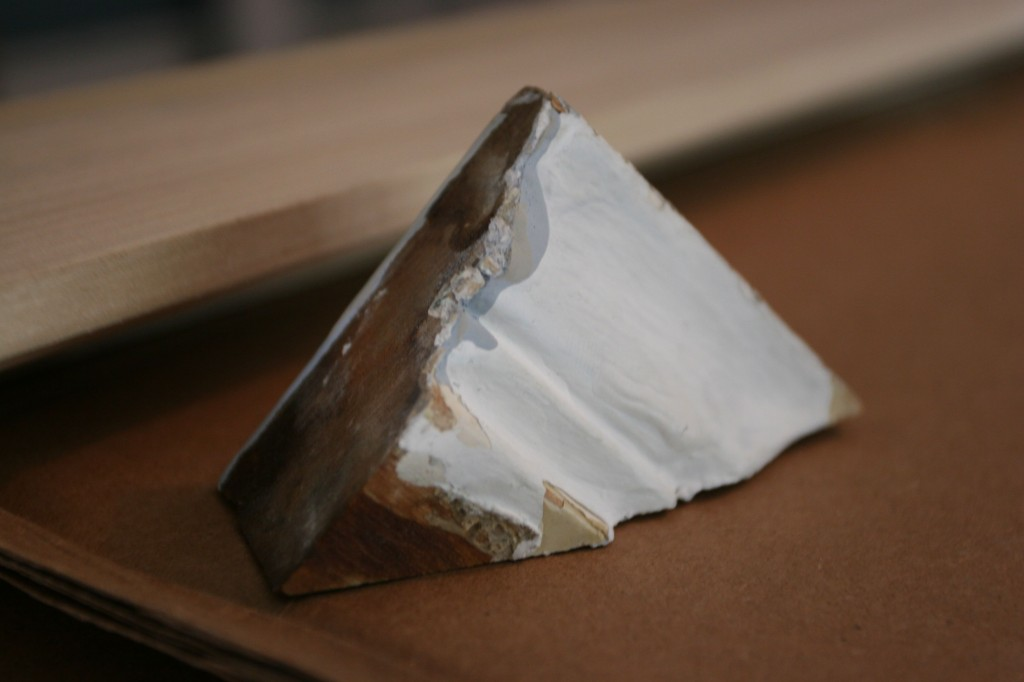 Original crown molding (top of head casing).