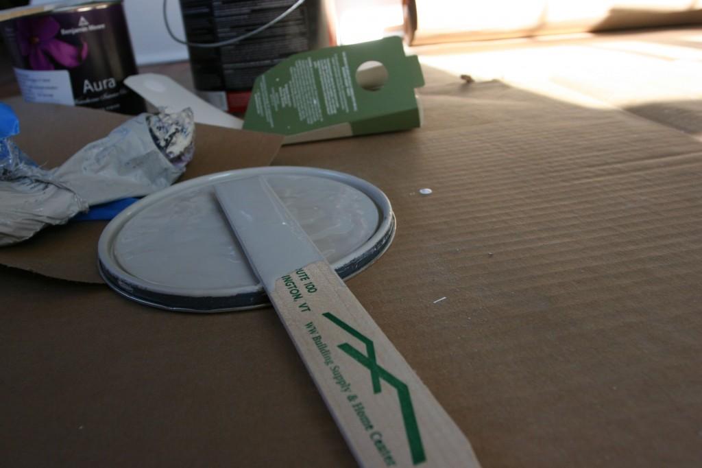 Paint debris.