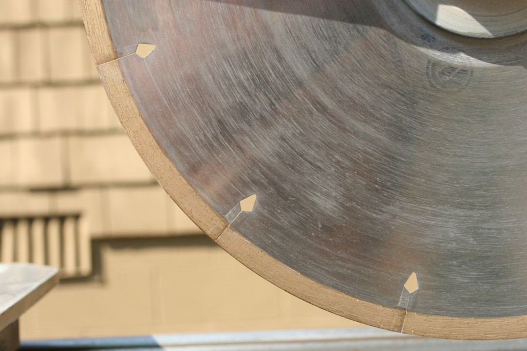 You can sort of see the diamond blade bits, and how it works if you look closely. It's pretty ingenious.