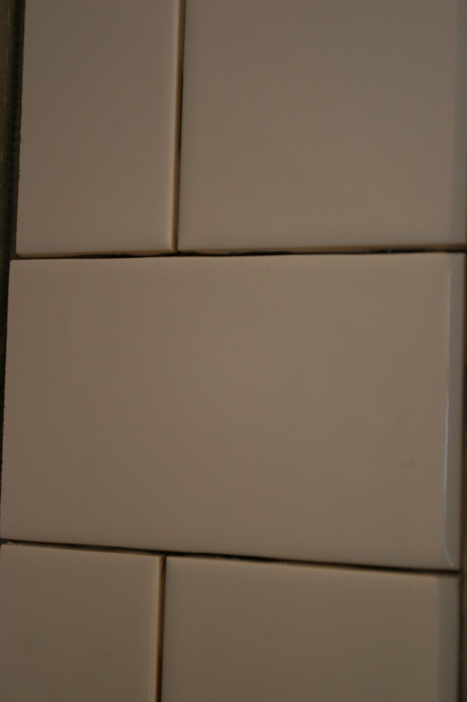 The subway tile will be a repeating theme, as it would have been in 1920.