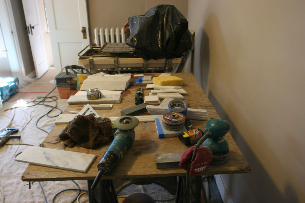 Skill and all sorts of tools of the trade. I wonder if my bedroom will ever look like a bedroom again?