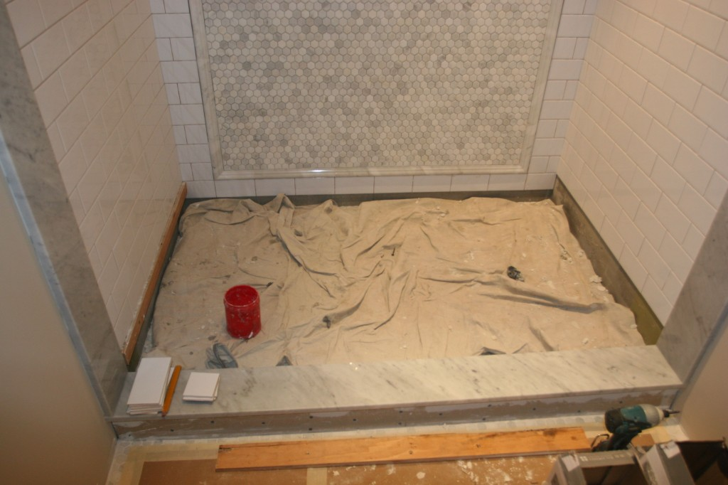 The shower, nearly there.