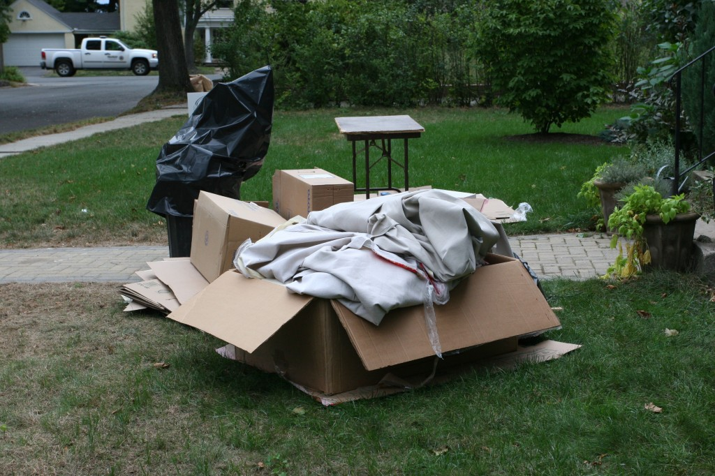 The outside of our house was beginning to look rather trashy, literally.