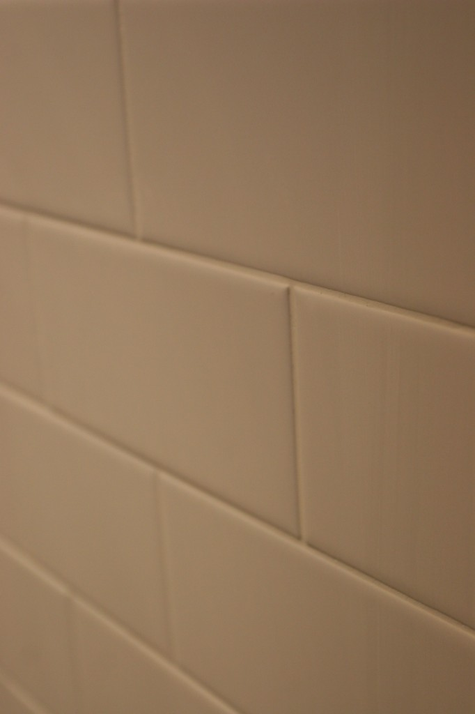 Clean, neat, smooth. Just as subway tile should be.