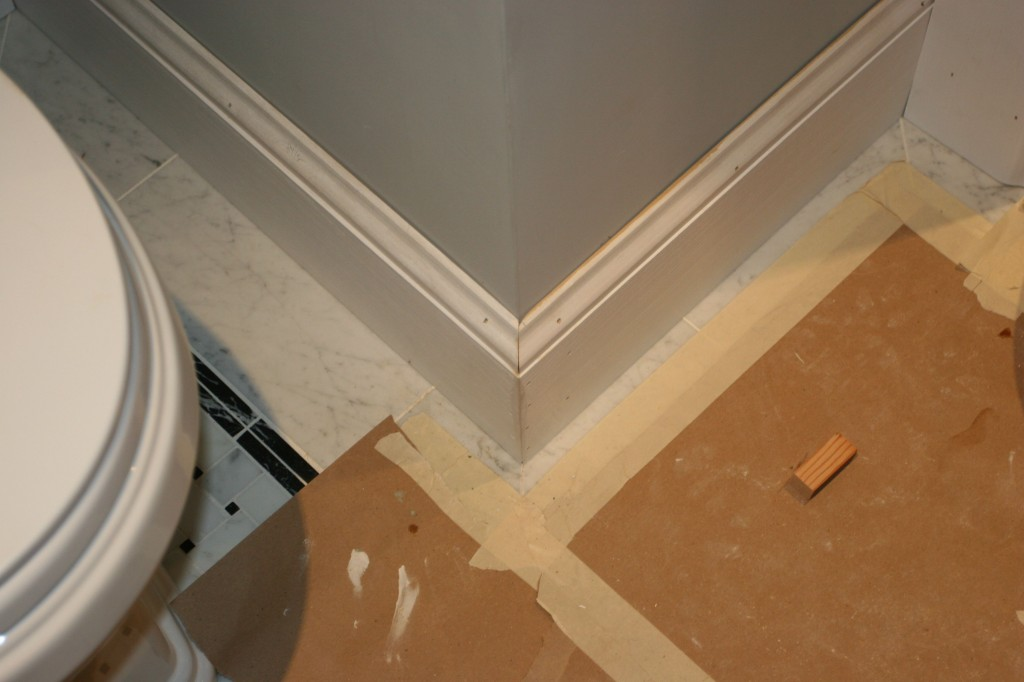 More baseboard shots. Makes such a difference. And I think they still have to put on the quarter round.