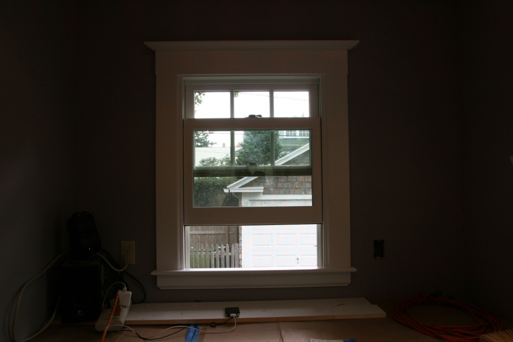 And this window is trimmed.