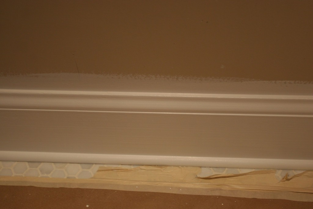 Baseboard trim, uber painted.