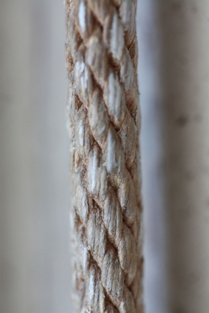 Antique window sash rope. Look at that texture!