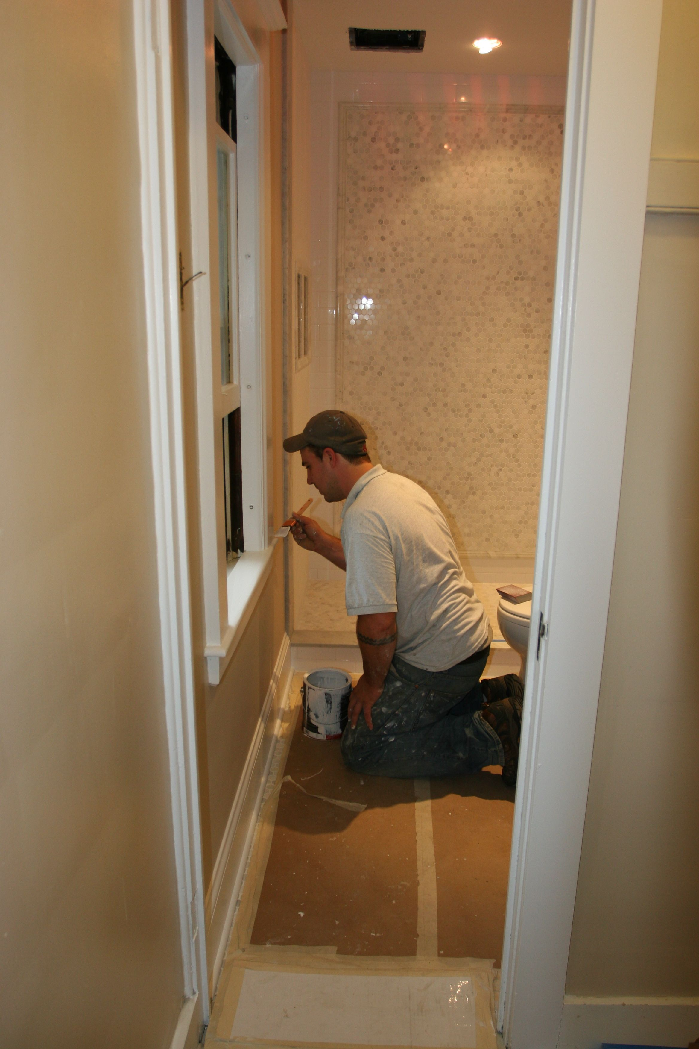 Taking care to perfect every nook and cranny.