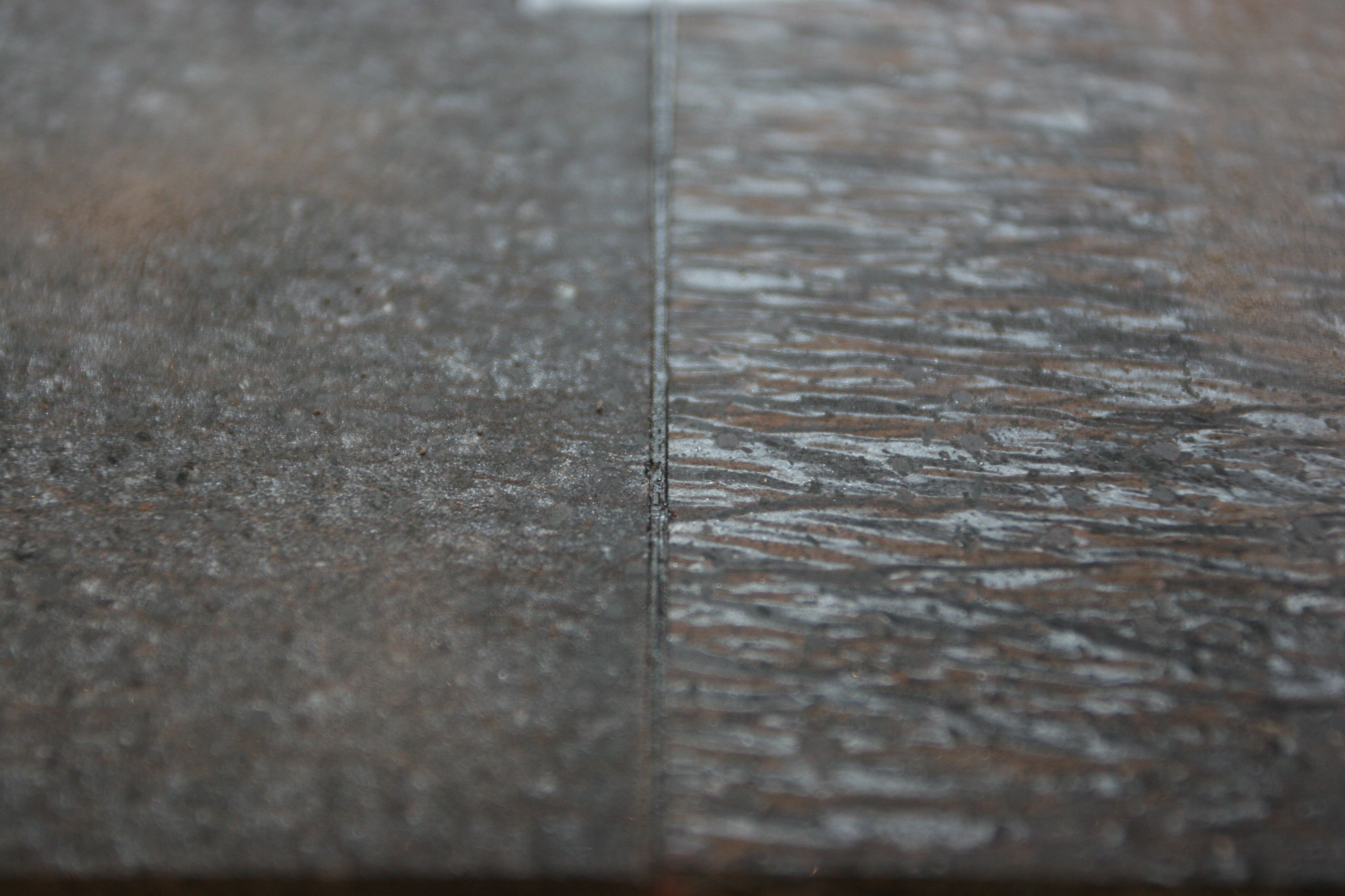 The seam at the sink. The two slabs we chose look amazing together. The seam is super cool.
