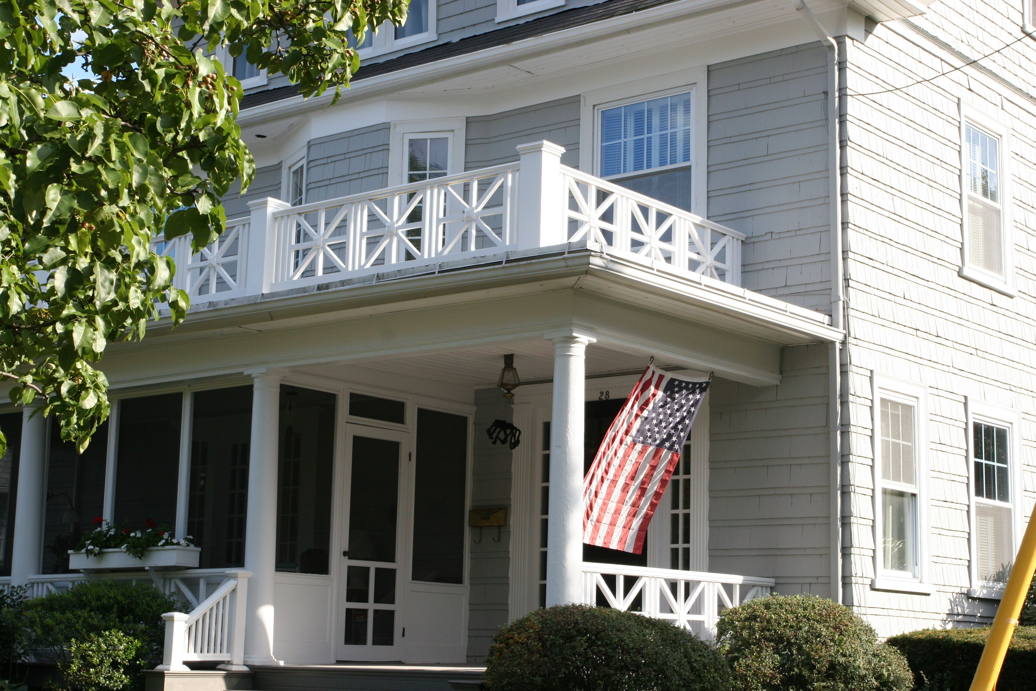 The Union Jack was definitely a feature from the neighborhood at large, in addition to being a part of our home's history and character.