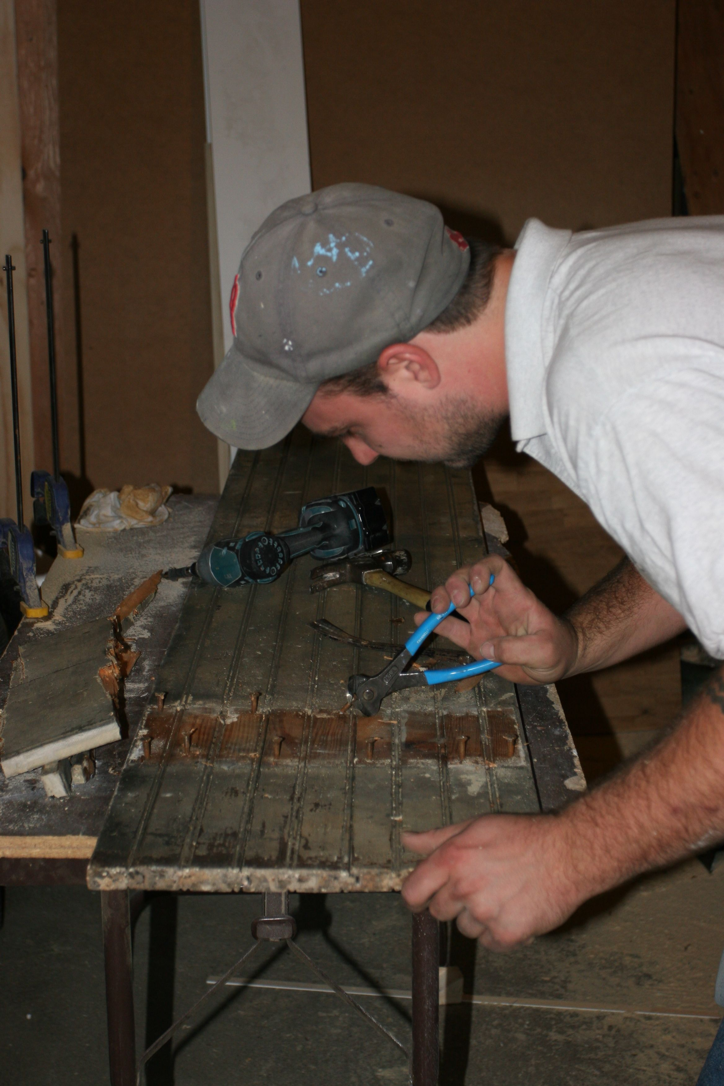 Proof that there's more than one way to unscrew a 90-year old brass screw.