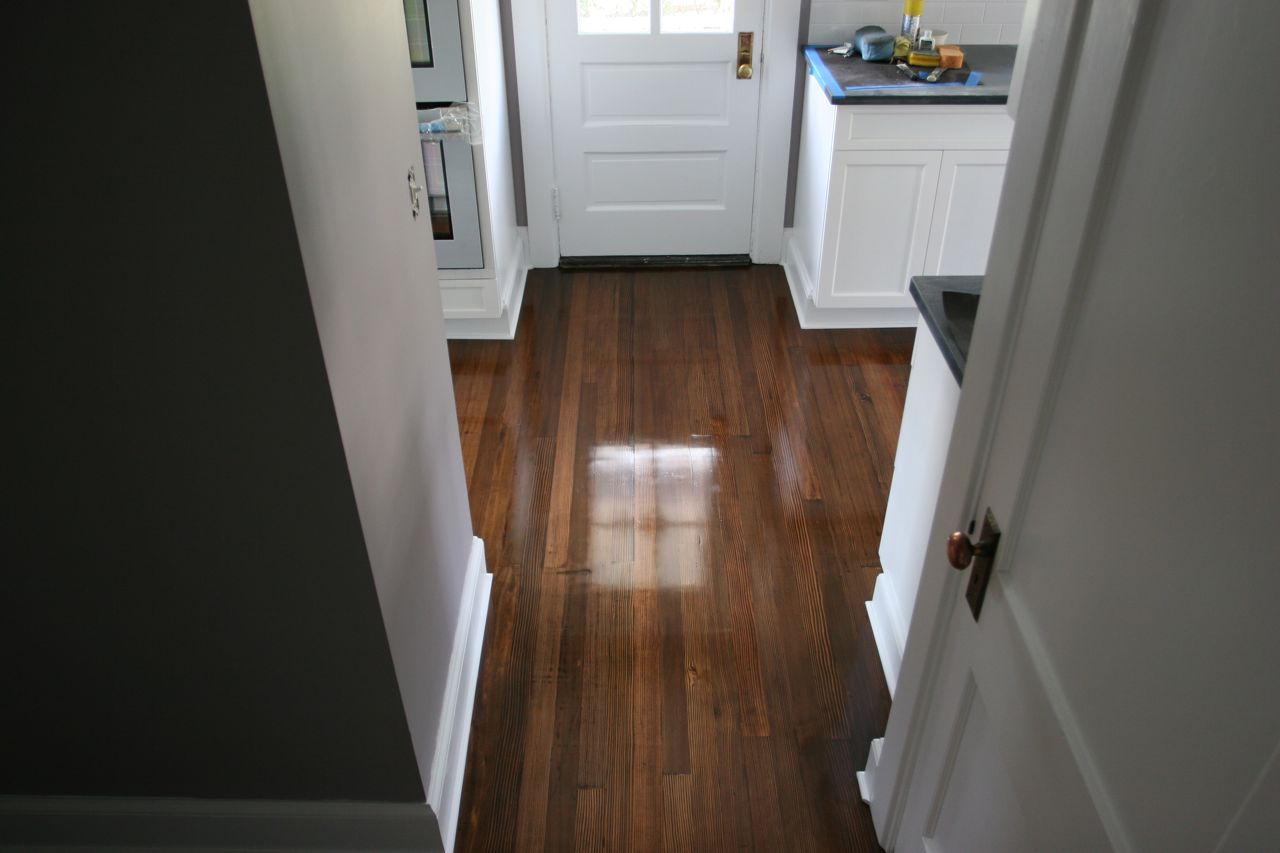 Floors! Again! Oh, and check out the door on the basement - it has a doorknob! We're nearly there!