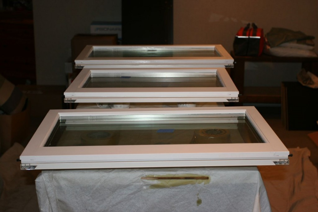 J.J.'s window prep/paint station.