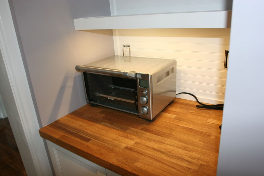 Oh, and we got a new toaster oven. We just HAD to try it out in our Tea 'n Toast station.