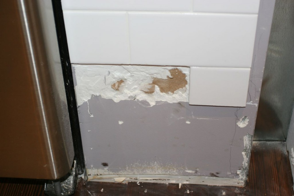 Tile casualty. It happens. Lucky for us, J.J. happened to be here already, so a fix was easy, breezy, beautiful.