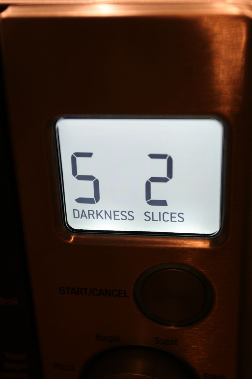 This shot is for Tine and Luke. Toast settings require a darkness specification. Darkness!