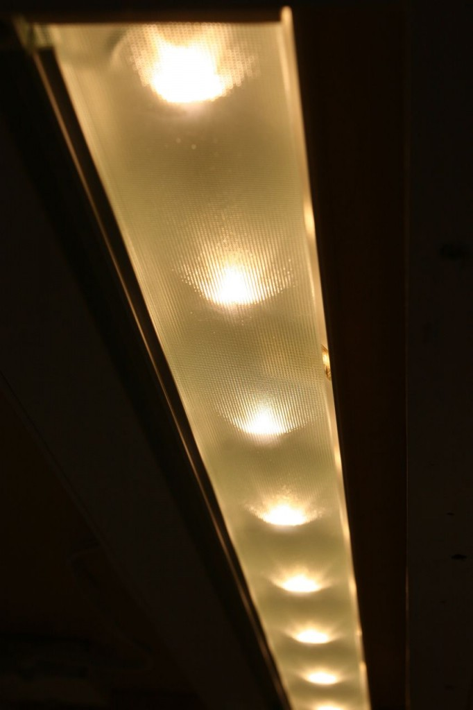 Undercabinet lights. We chose LED lights for their lack of heat emission and their low energy draw, not for their cost (eek!).