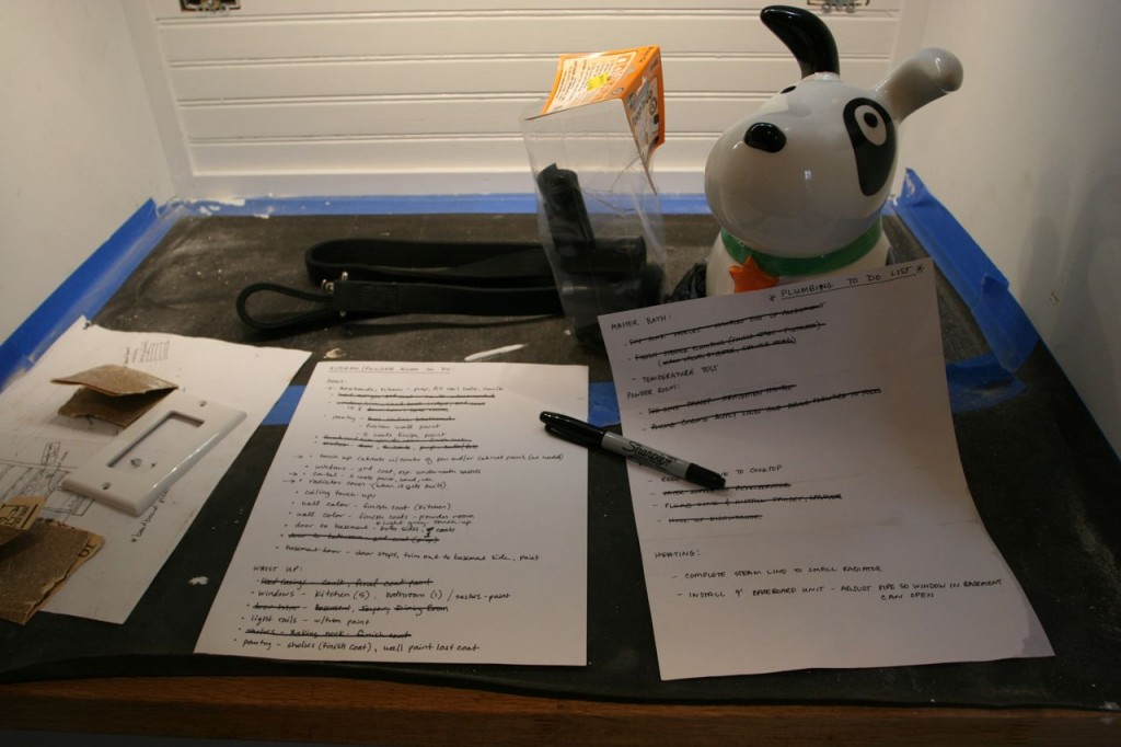 Punch-lists and dog treats. An appropriate station for Dave (who is part dog, as we know), yes?