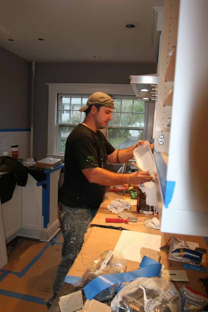 Dave saving every last drop of usable paint. Thanks for that, Davey!