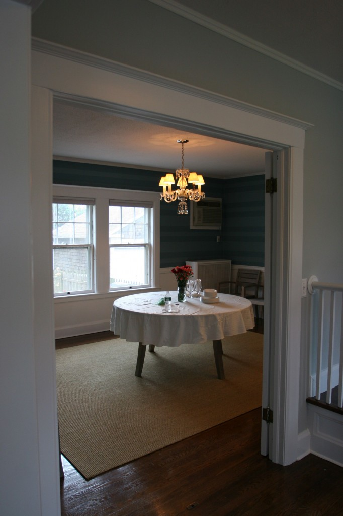 Front hall to dining room.