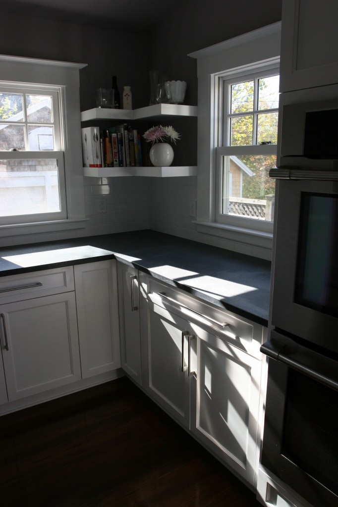 Baking nook. Formerly the full bath. Lovely morning light. AFTER.