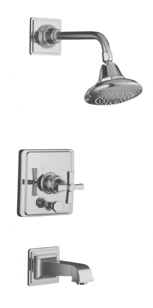 We're waiting on this to show up. I'm hopeful that this shower head will produce a family pleasing water pressure situation.