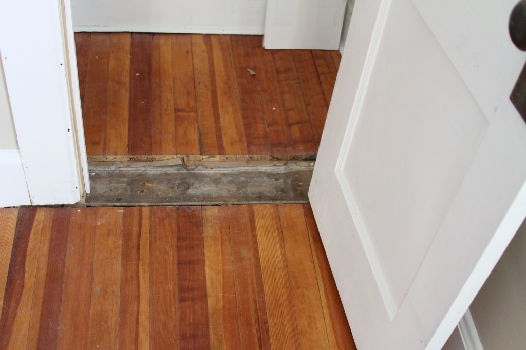We'll get the threshold done when the guys come back in mid-January to do the built-ins in the family bath.