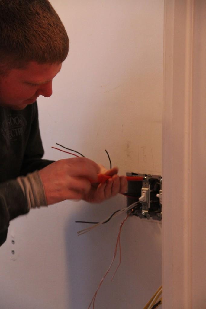Ah, new, modern, safe wiring! Score!