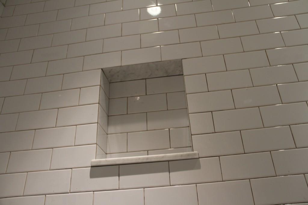 White Subway Tile Shower Niche Subway Tile Shower Niche