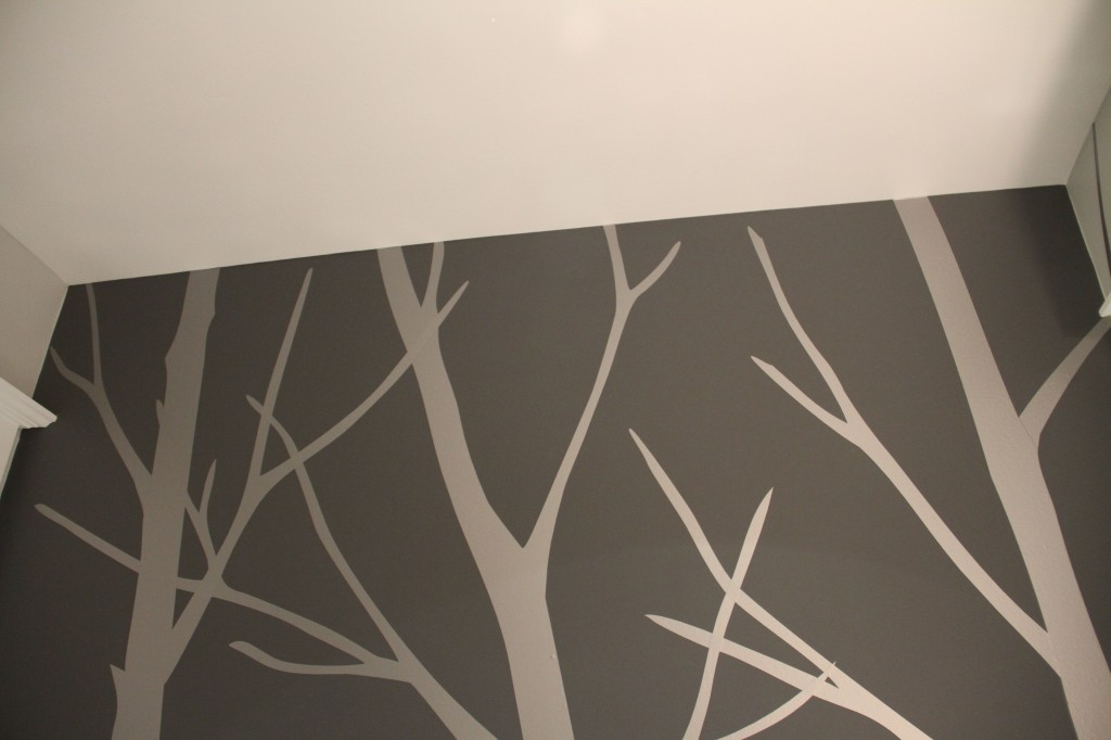 After: top of wall/ceiling.